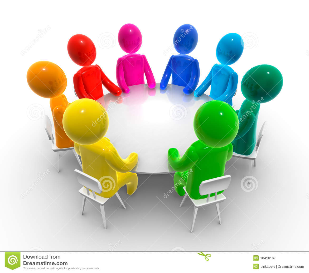 Free clipart round table.