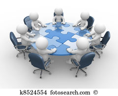 Round table discussion Clipart and Stock Illustrations. 551 round.