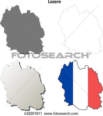Clipart of Lozere, Languedoc.