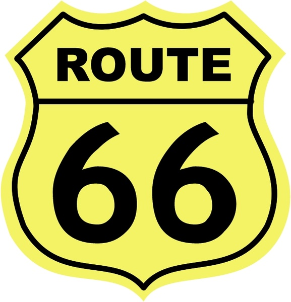 Route 66 0 Free vector in Encapsulated PostScript eps ( .eps.