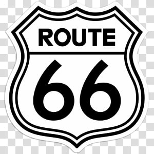 U.S. Route 66 Sticker Decal Travel Road, route transparent.