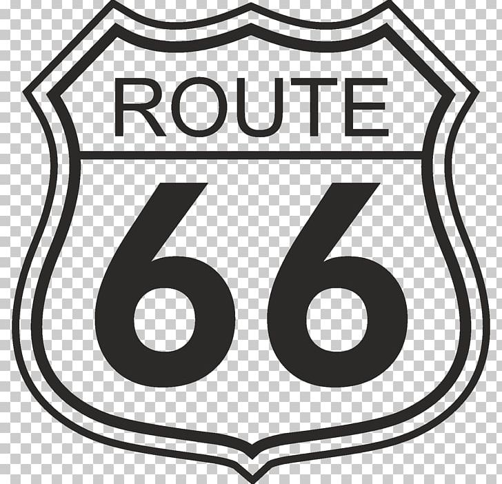 U.S. Route 66 Sign Road Symbol PNG, Clipart, Area, Black And.