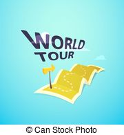 Vector Clipart of World Tour Concept.
