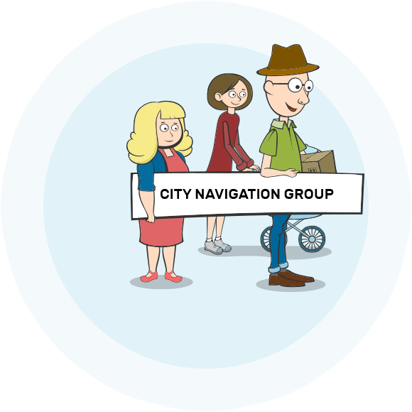 City navigation.