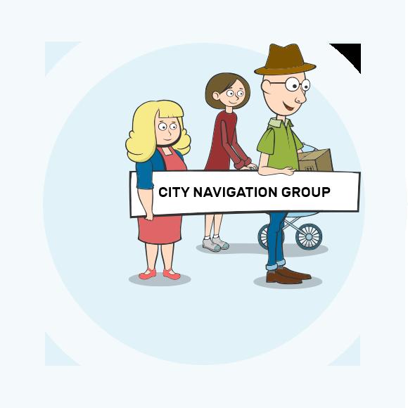 City navigation.