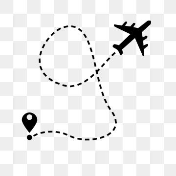 Flight Route PNG Images.