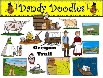 Oregon Trail Clip Art by Dandy Doodles.