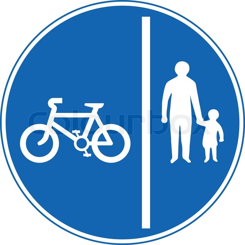 Segregated pedal cycle and pedestrian route.