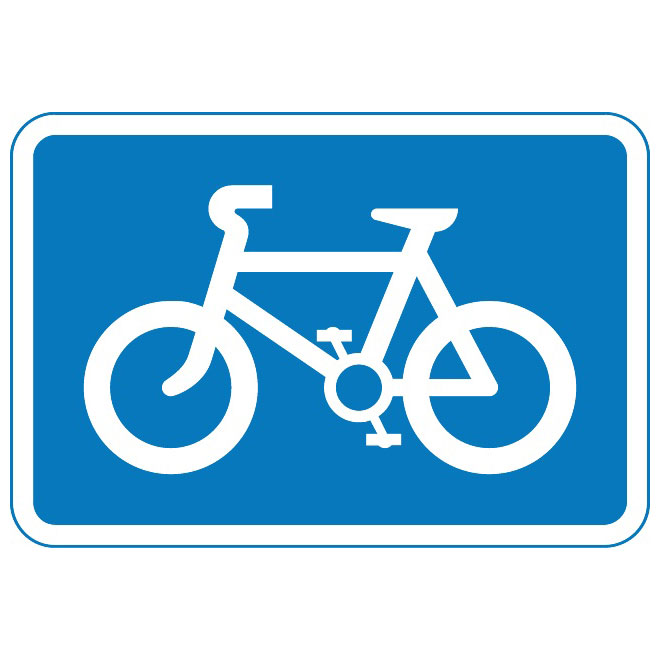 CYCLE ROUTE SIGN VECTOR.