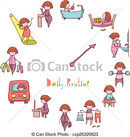 Daily routine clipart 4 » Clipart Station.