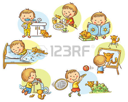 58+ Daily Routine Clipart.