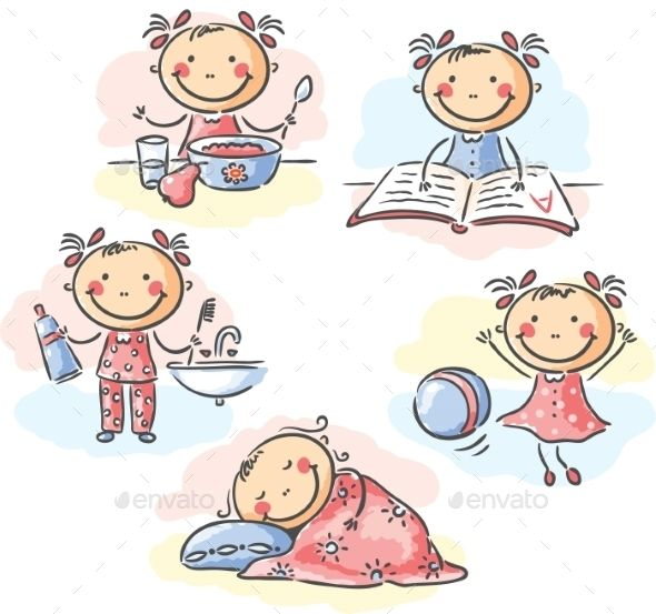 Activities clipart daily routine, Activities daily routine.