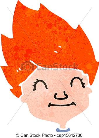 Vectors of retro cartoon redhead person.