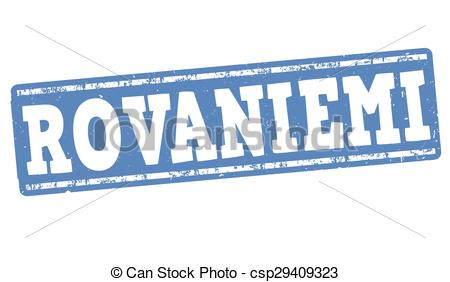 Vector Illustration of Rovaniemi stamp.