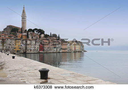 Pictures of Rovinj old town, Istria, Croatia k6373308.