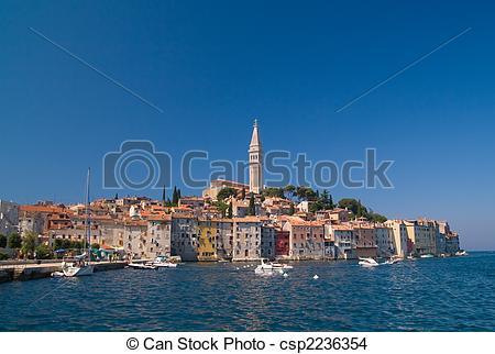 Stock Photo of City Rovinj, Croatia.