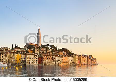 Pictures of Coastal town of Rovinj, Istria, Croatia..