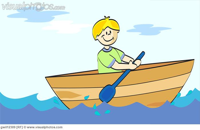 Rowing a boat clipart.
