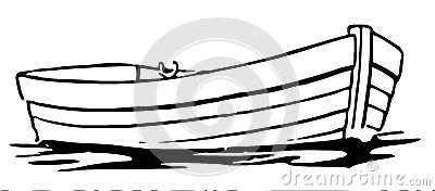 Row boat clipart black and white.
