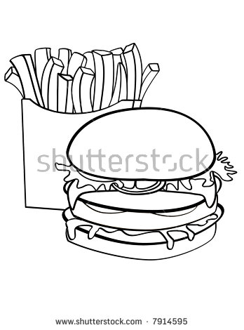 Burger Outline Stock Images, Royalty.