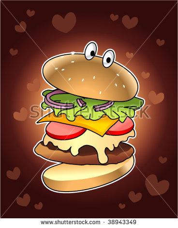 Huge Burger Stock Photos, Royalty.