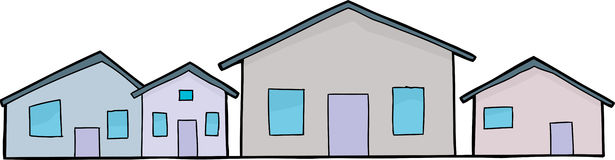 Row Houses Clip Art House Stock Illustrations.