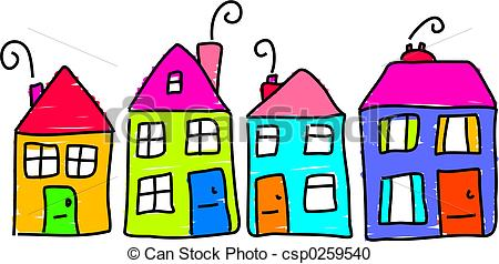 Row house Clipart and Stock Illustrations. 2,920 Row house vector.