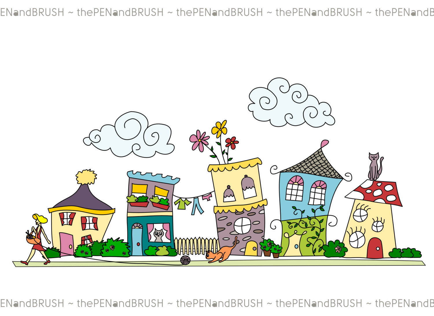 row houses clipart 20 free cliparts