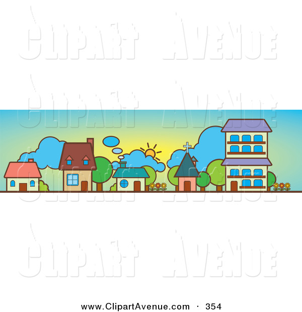 Row Of Houses Clipart.