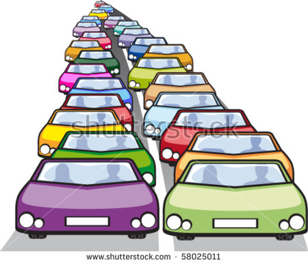 Gallery For > Row of Cars and Trucks Clipart.