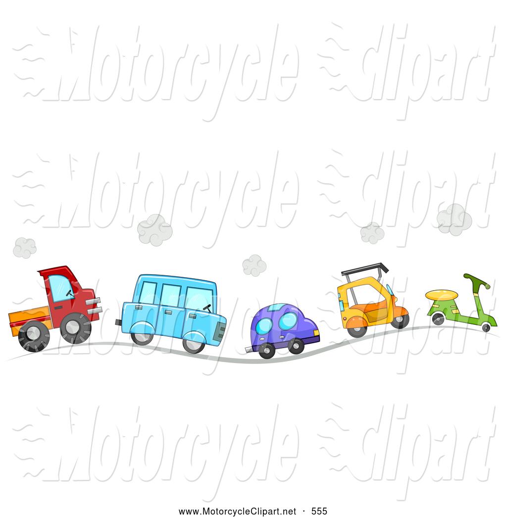 Row Of Cars Clipart.