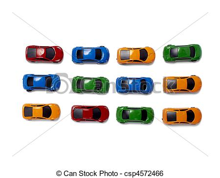 Stock Image of toy cars traffic transportation.