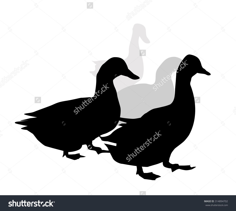 Ducks Row Stock Vector 314894702.