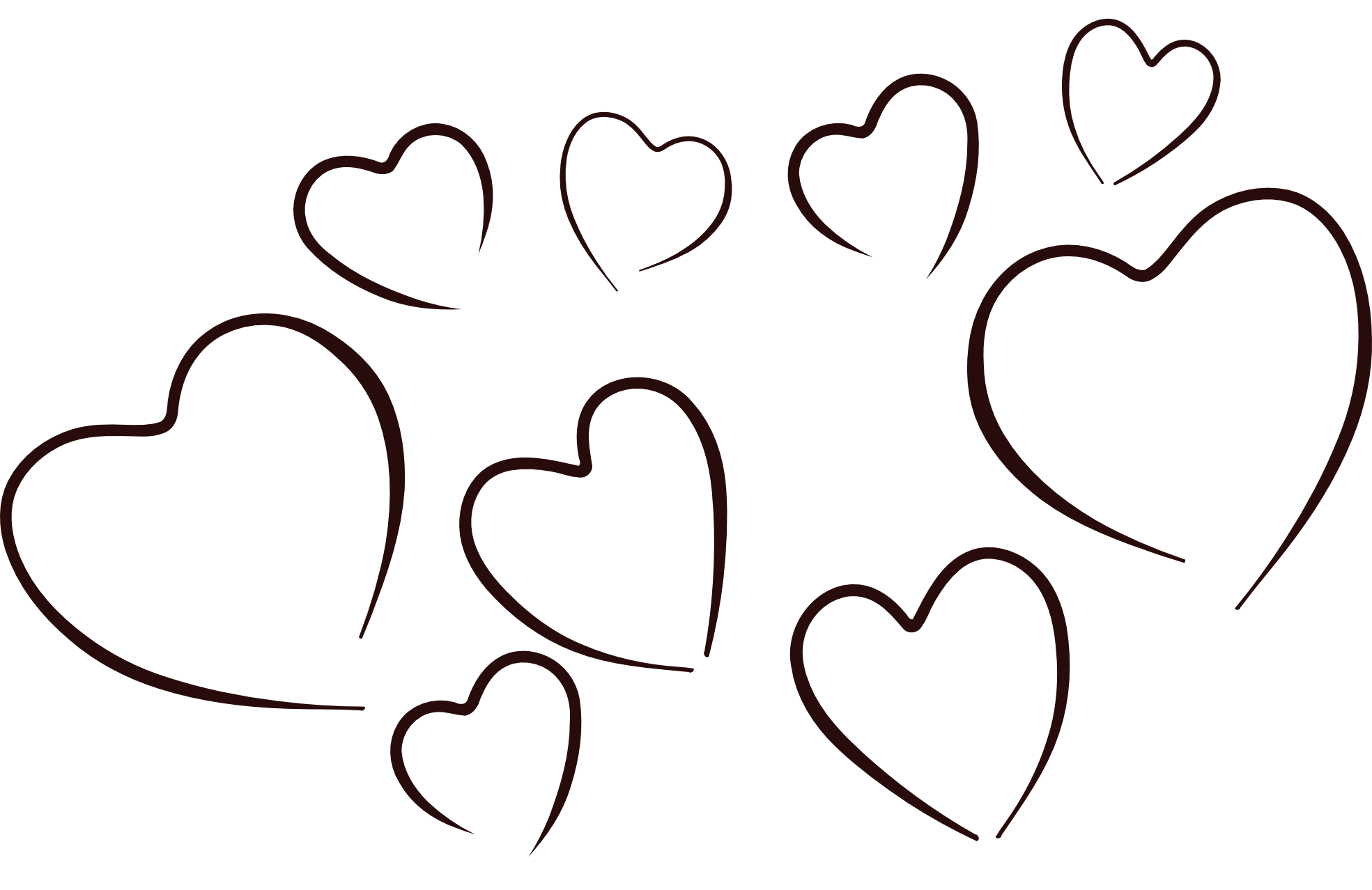 73+ Hearts Clipart Black And White.