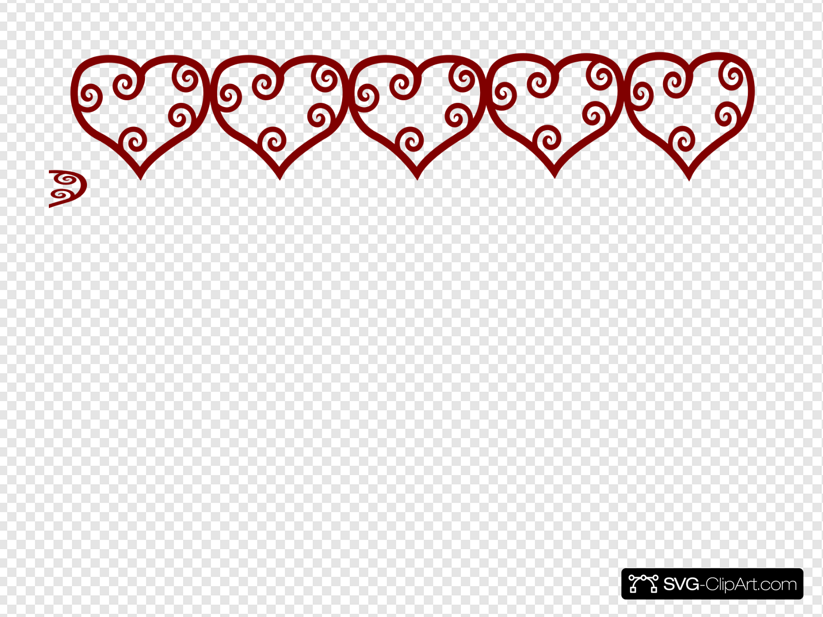 Row Of Hearts Clip art, Icon and SVG.