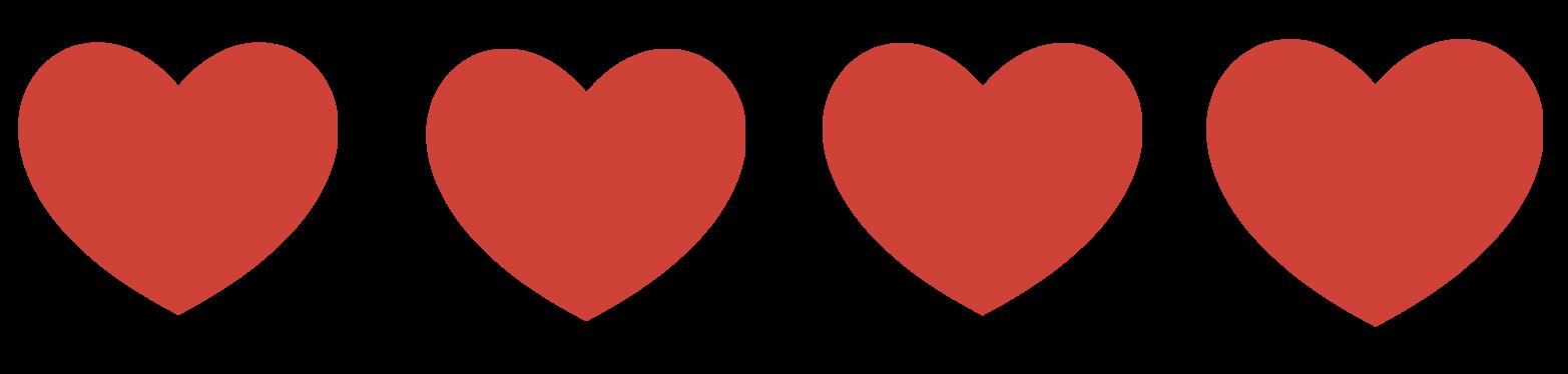 Heart Clipart Row.
