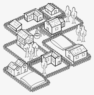 Free Row Of Houses Black And White Clip Art with No.
