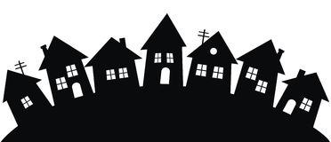 Row house clipart black white.