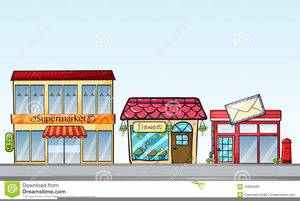 Row Of Shops Clipart.