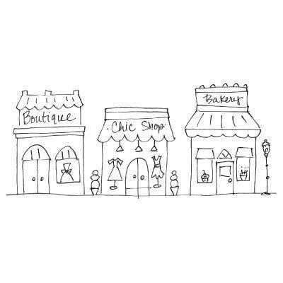 Row of shops clipart 7 » Clipart Portal.