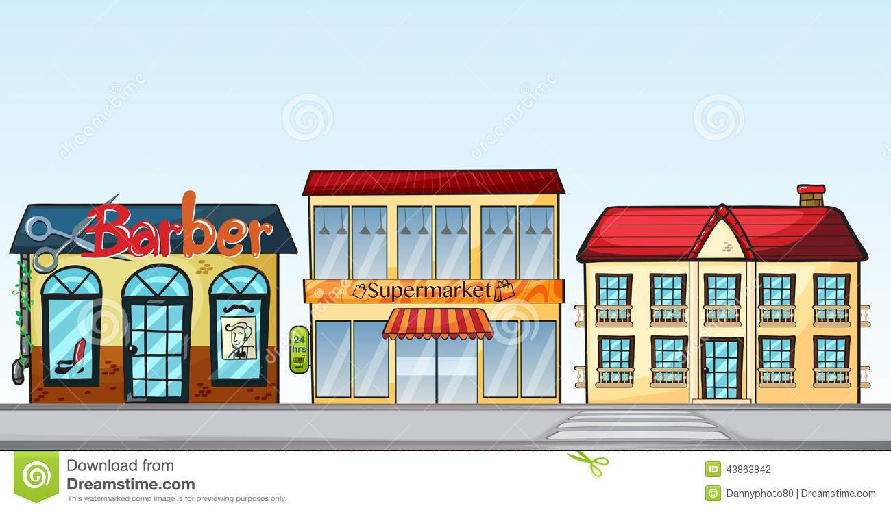 Row of shops clipart 3 » Clipart Portal.