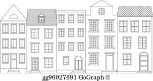 Row Of Houses Clip Art.