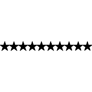 Star Line Clipart.