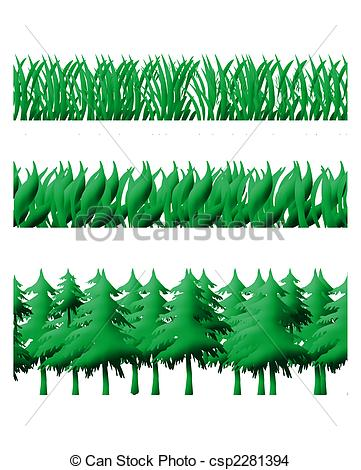 Rows of trees clipart #11