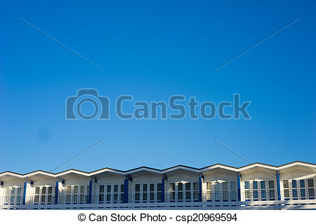 Stock Photographs of Long row of identical windows in a building.