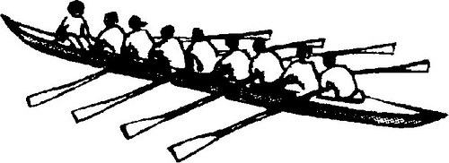 Crew rowing clip art.