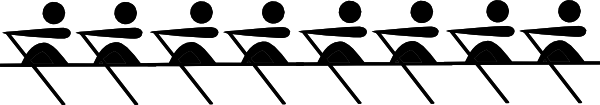 8 Rowers Red Clip Art at Clker.com.