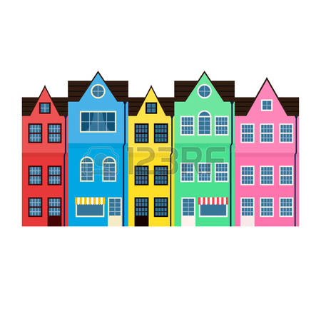 4,432 Row Houses Cliparts, Stock Vector And Royalty Free Row.