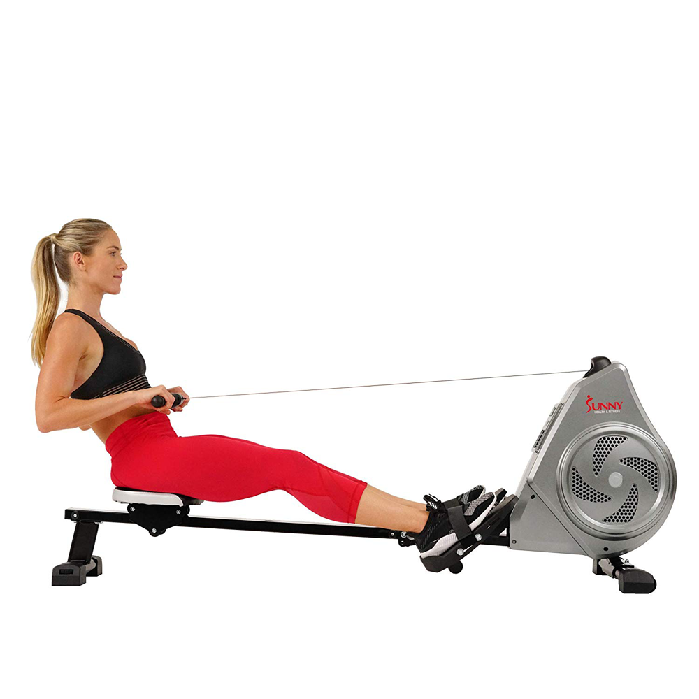 Details about Sunny Health and Fitness Air Magnetic Rowing Machine Rower,  LCD Monitor with Tab.
