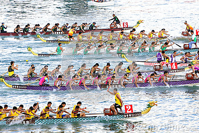 Dragon Boats Festival Race Stanley Beach Hong Kong Editorial.